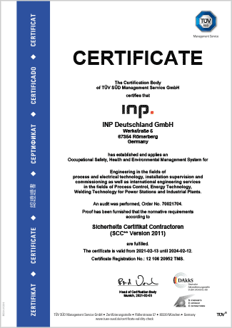SCC-Certificate | INP International Projects